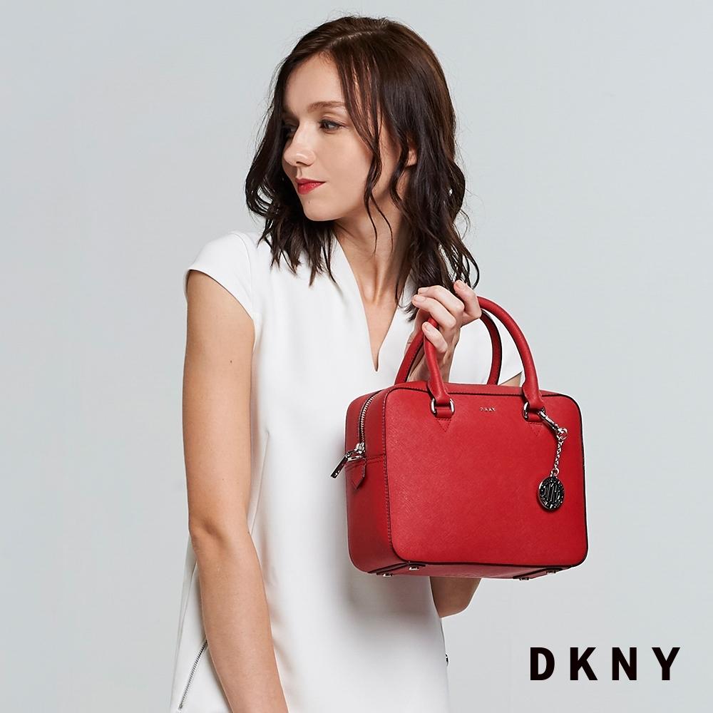 DKNY 時尚通勤手提方包 紅