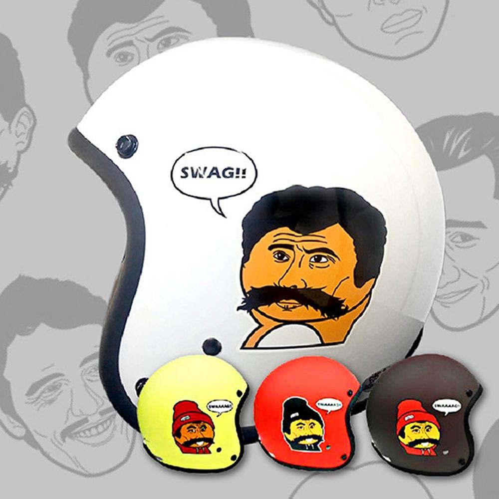 【T-MAO】知名插畫家 救客人 (霧面紅) 波卡哆款 安全帽|不撞帽|機車|鏡片|內襯|鏡片|正版授權|經典彩繪|3/4罩 半罩|復古帽