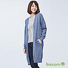 bossini女裝-針織長版開襟衫海軍藍