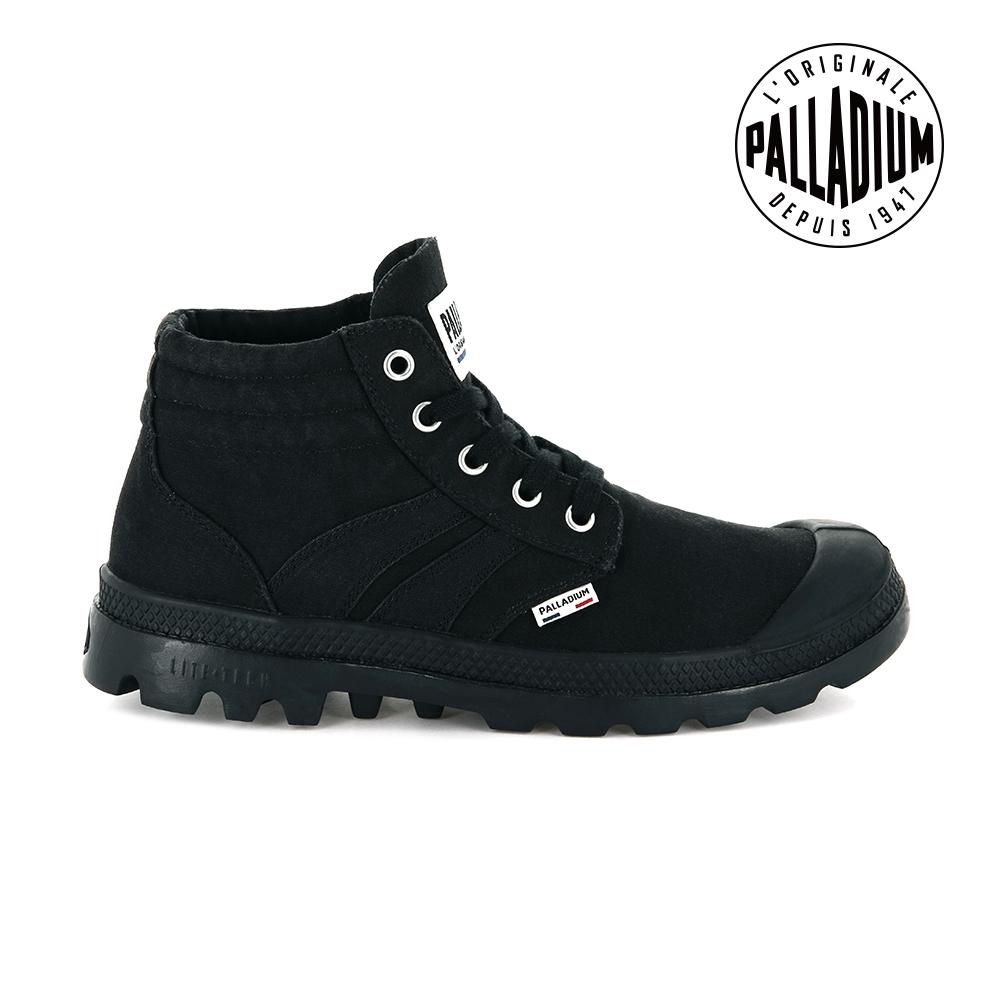 PALLADIUM RETRO LITE SUPPLY輕量帆布靴-男-黑