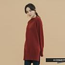 H:CONNECT 韓國品牌 女裝 - 簡約開岔針織上衣  - 棕