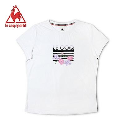 le coq sportif 法國公雞牌涼感舒適經典短袖T恤 女-白