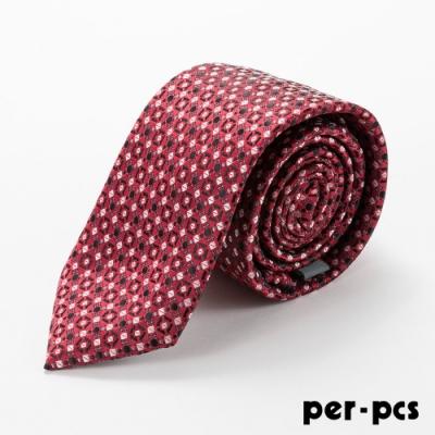 per-pcs 商務體面優質領帶紅_D-106