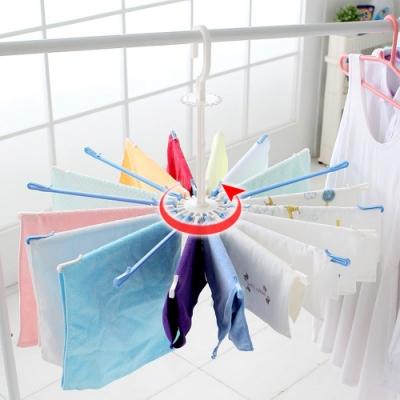 E.dot  可折疊傘型晾曬20夾衣架