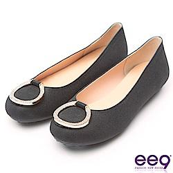 ee9 MIT經典手工質感閃耀星光超輕豆豆娃娃鞋 黑色