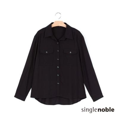 獨身貴族 率性雙口袋翻領造型襯衫(2色)