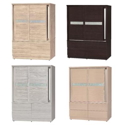 MUNA 凱特亞5X7尺三拉四抽衣櫃/衣櫥(共四色) 151.2X60.2X192cm