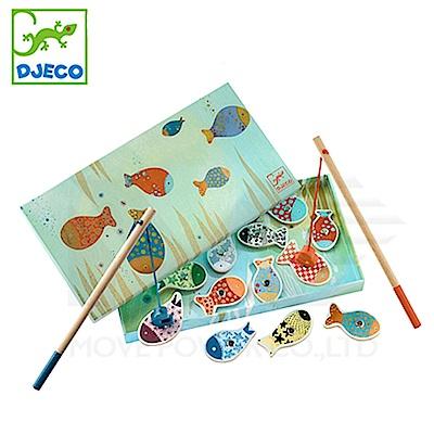 【任選】法國《DJECO-智荷》釣魚遊戲-歡樂磁鐵釣魚組