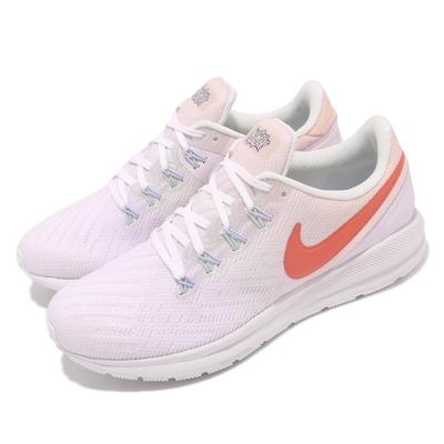 Nike 慢跑鞋 Zoom Structure 22 女鞋 氣墊 舒適 避震 路跑 健身 球鞋 粉紫 橘 CW2640681