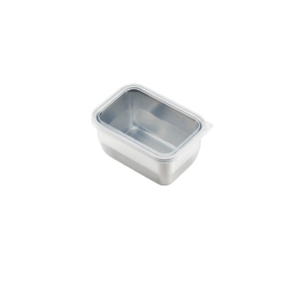 日本 吉川Yoshikawa透明蓋不鏽鋼保鮮盒 小/810ml