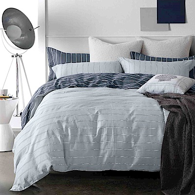 Grace Life 思維空間 台灣精製 雙人精梳純棉床包三件組~床圍高度35公分