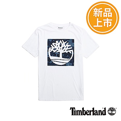 Timberland 男款白色Kennebec Brand短袖T恤