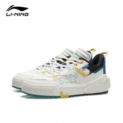 LI-NING 李寧 001 Unblock男子小白鞋經典休閒鞋 雪白/黑色(AGCR123-2)