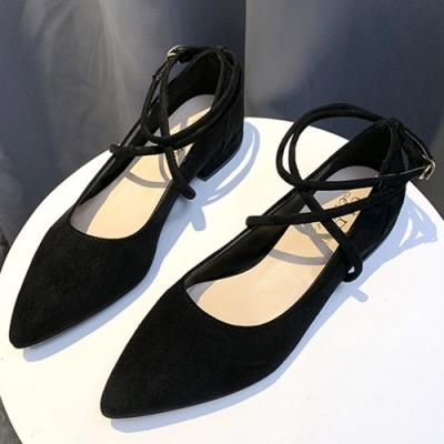 韓國KW美鞋館-(現貨)超有型舒適素色簡約尖頭鞋(共1色)