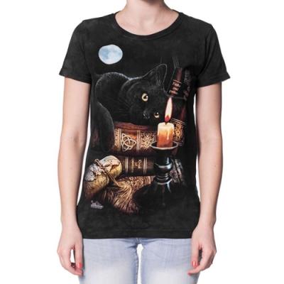 摩達客-美國進口The Mountain   魔法貓時刻  短袖女版T恤