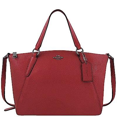 COACH 紅色光澤皮革小型波士頓包