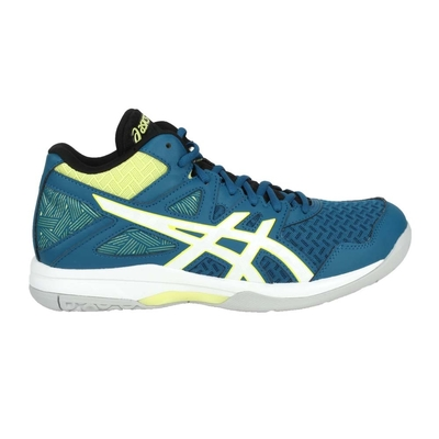 ASICS GEL-TASK MT 2 男排羽球鞋-中筒 訓練 亞瑟士 1071A036-401 藍綠白黃