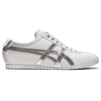 Onitsuka Tiger鬼塚虎- MEXICO 66 SLIP-ON 休閒鞋 1183A962-101 白底銀色