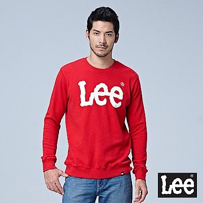 Lee 大LOGO圓領厚TEE/RG-紅色