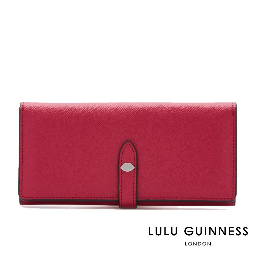 LULU GUINNESS JUNO 長夾 (覆盆莓紅)