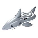 Bestway 41097大白鯊造型充氣浮排坐騎游泳圈附修補片.動物造型座騎充氣浮圈救生圈