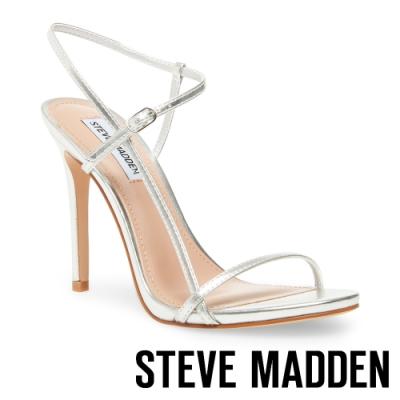STEVE MADDEN-OAKLYN 奢華晶閃亮眼踝繞帶高跟鞋-銀色