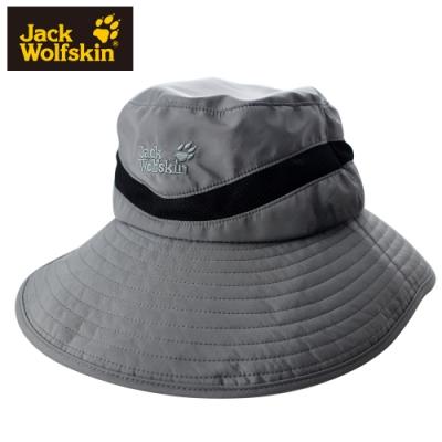 【Jack Wolfskin 飛狼】透氣網布大遮陽帽 半盤帽『灰』