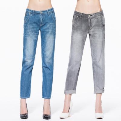 [時時樂限定]BRAPPERS 女款 中低腰八分反摺男友褲(二色選)