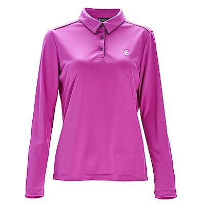 荒野【wildland】女椰碳紗本布領長袖上衣粉紫色