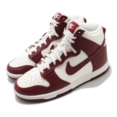 Nike 休閒鞋 Dunk High 運動 女鞋 經典款 簡約 高筒 球鞋 穿搭 酒紅 白 DD1869101