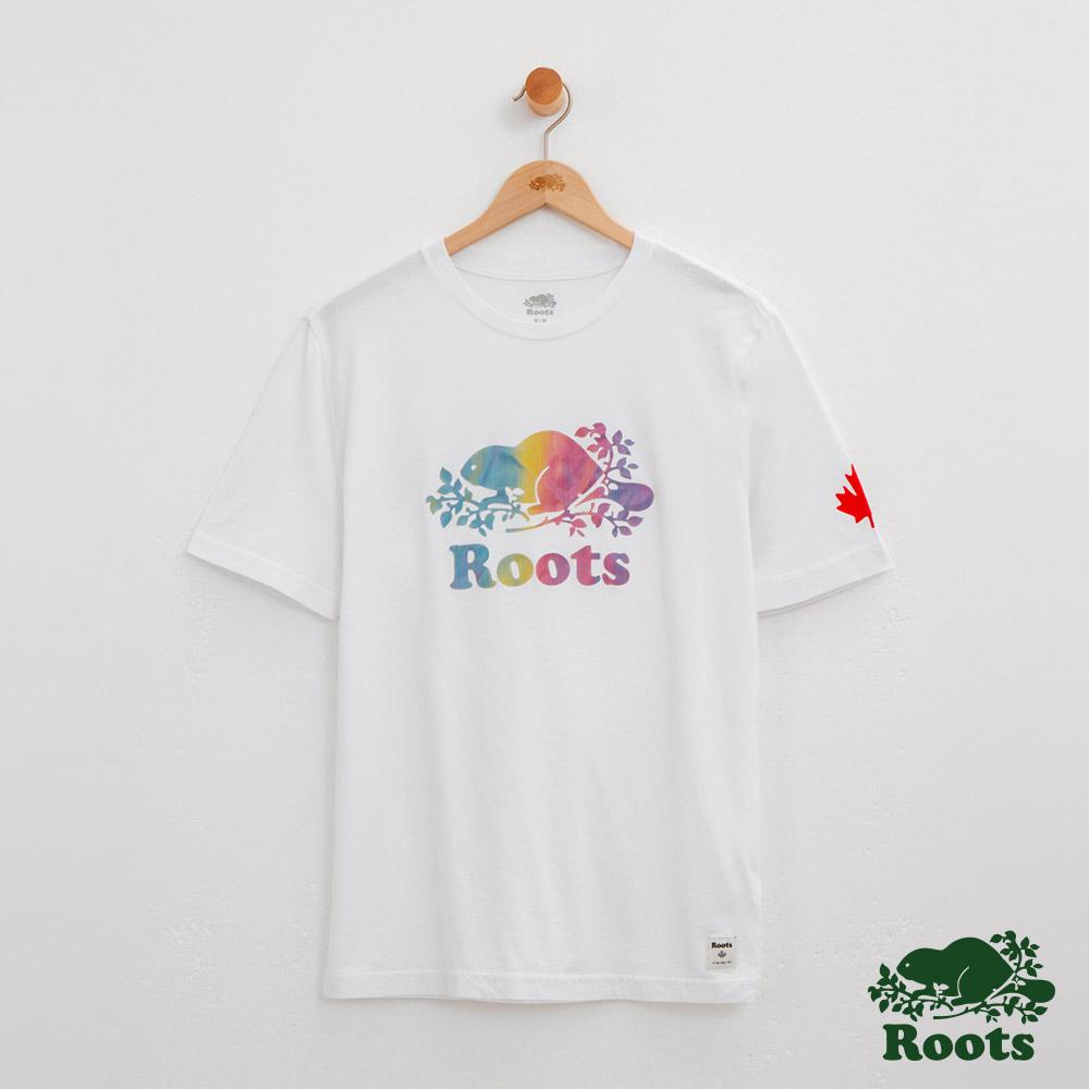 男裝Roots 歐布瑞短袖T恤-白