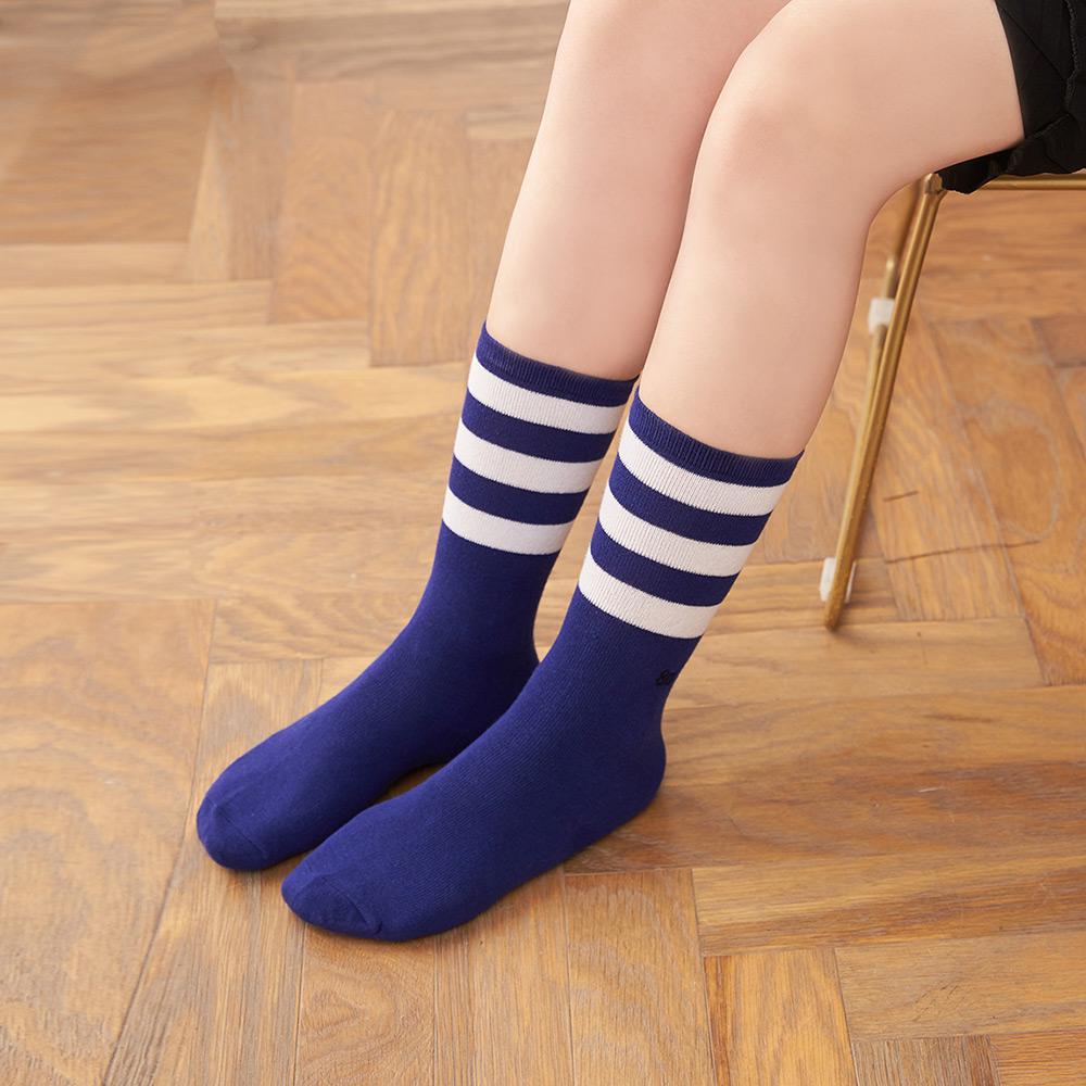 8:AT 運動長筒襪(深藍)