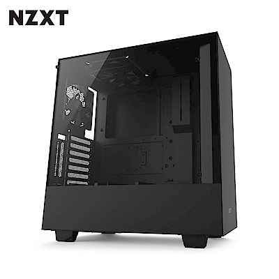 NZXT恩傑 H500 MID-TOWER CASE 電腦機殼/鋼化側透玻璃-黑