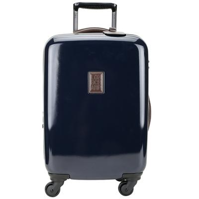 LONGCHAMP Boxford 附可拆吊牌密碼鎖拉桿登機箱 行李箱(深藍色)