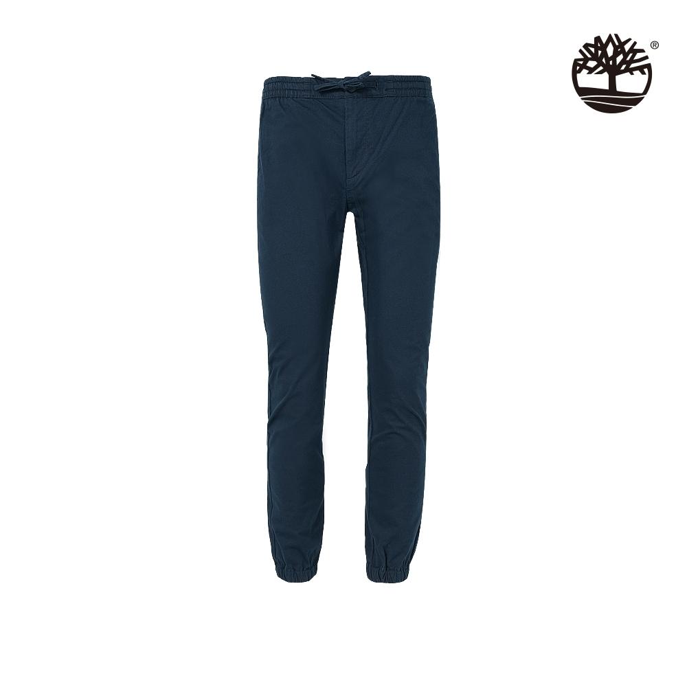 Timberland 男款深寶石藍鬆緊腰頭縮口長褲|A2B9Q