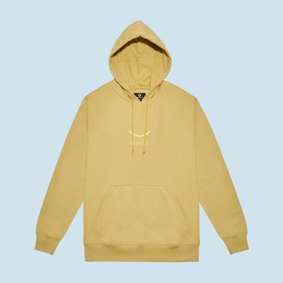CONVERSE JACK PURCELL SMILE PULLOVER HOODIE 連帽TEE 男款 女款 黃色 10023090-A01