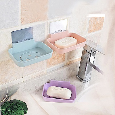日創優品 北歐風格免釘無痕肥皂盒(4入)
