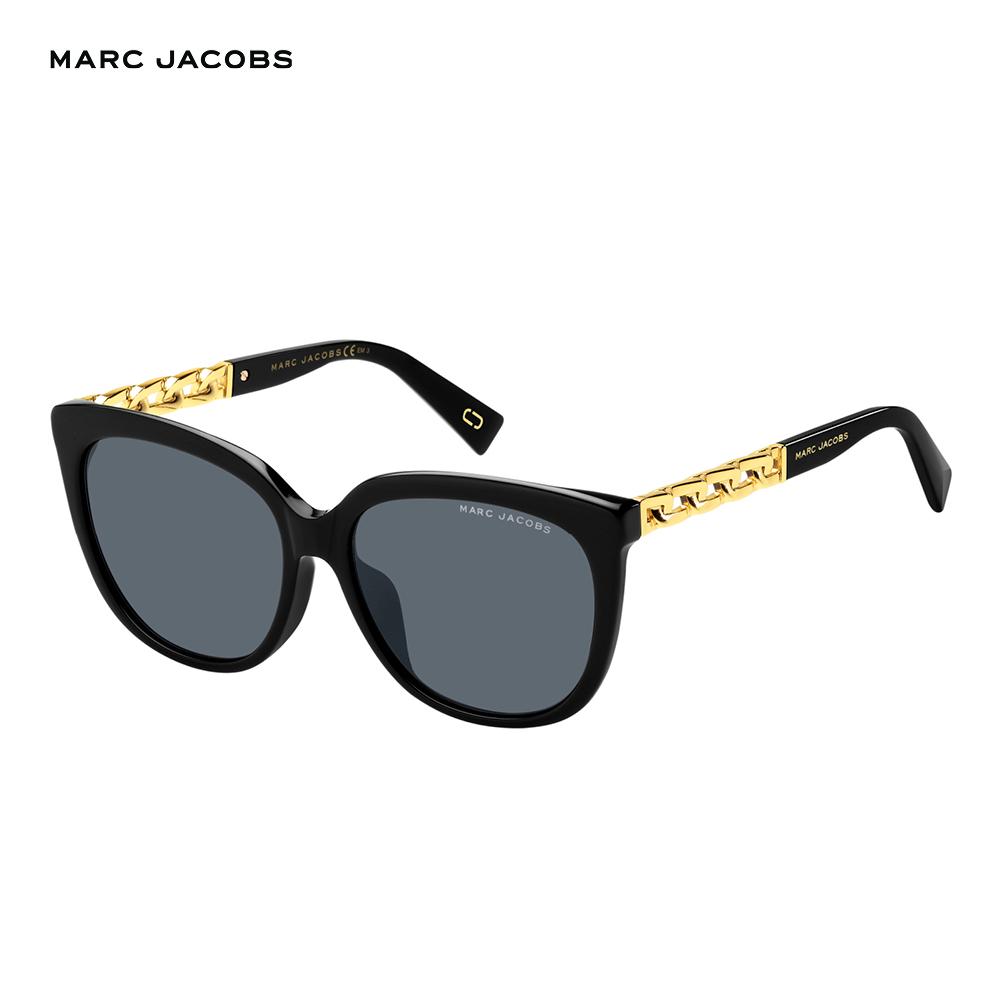 Marc Jacobs- MARC 317/S 都會時尚鎖鏈太陽眼鏡 黑色