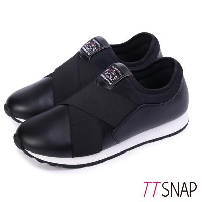 TTSNAP運動鞋-MIT超輕量光滑舒適慢跑休閒鞋 黑