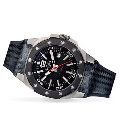 DAVOSA DAVOSA NEW Titanium 極限競技純鈦手錶-神秘黑錶面PVD黑