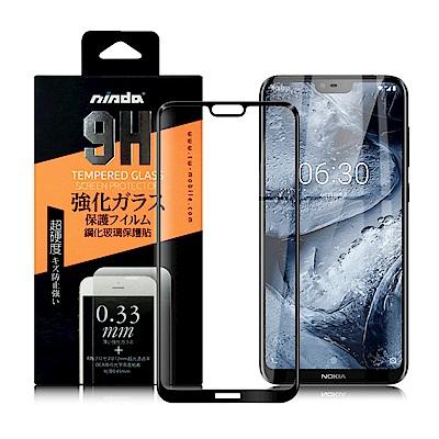 NISDA for NOKIA 6.1 Plus 完美滿版玻璃保護貼-黑