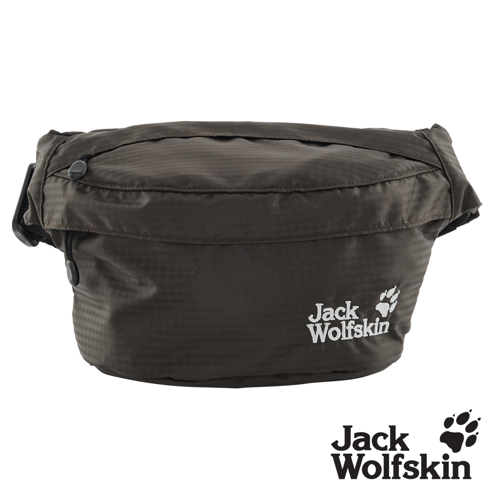 【Jack wolfskin 飛狼】極簡風格休閒腰包『深灰』
