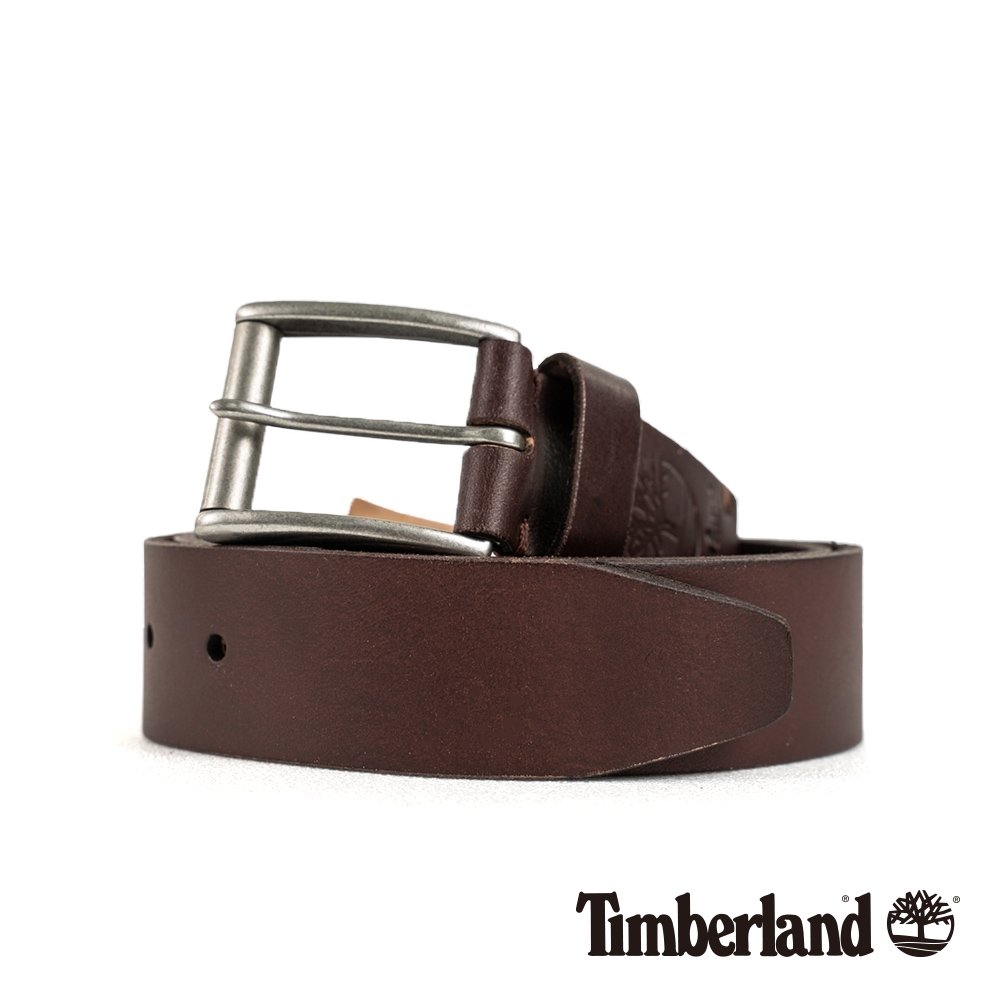 Timberland 中性深棕色36mm皮帶|A1DTV