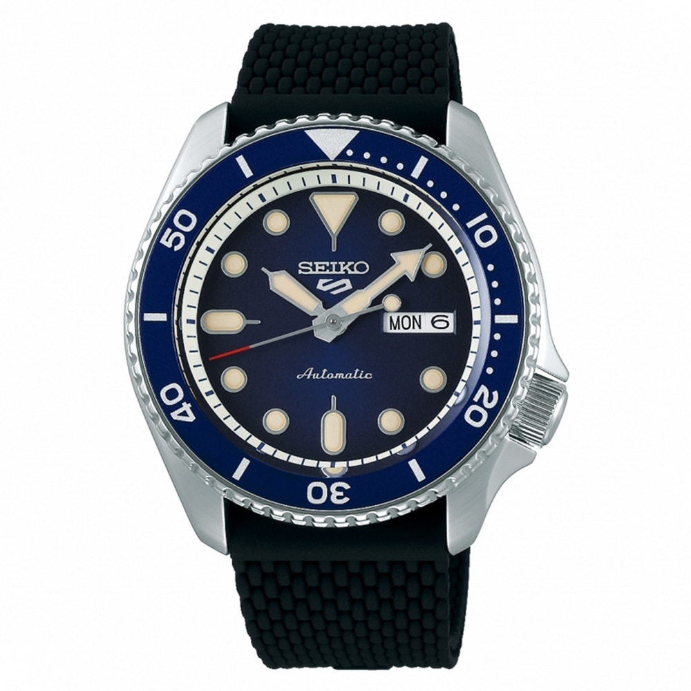 SEIKO 精工 5 Sports 系列藍面橡膠機械錶4R36-07G0L(SRPD71K2)x42.5mm product image 1