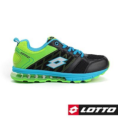 LOTTO 義大利 童 NUVOLA 浮雲氣墊跑鞋(黑)