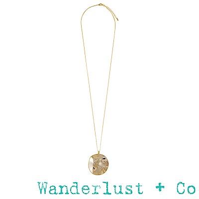 Wanderlust+Co潮汐項鍊 - 金色