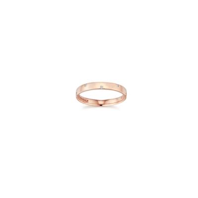 STONEHENGE 斯通亨奇  蜜鑽系列14K玫瑰金鑽石對戒(女) 國際圍11號
