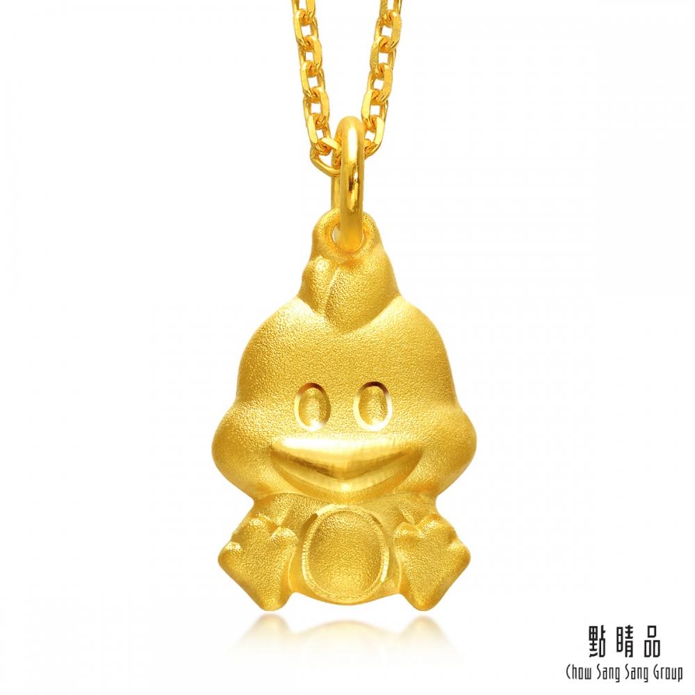 【點睛品】足金9999 十二生肖守時雞日常穿搭彌月黃金吊墜 _計價黃金