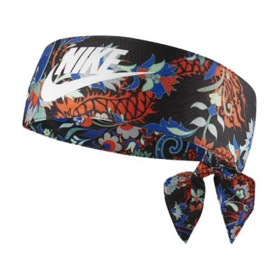 Nike 頭帶 Exploration Head Tie Dri-FIT 吸濕排汗 快乾 運動 花卉 彩黑 N1001827907OS
