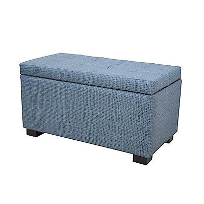 CLORIS 78公分收納沙發/掀蓋椅/長座凳(藍色)